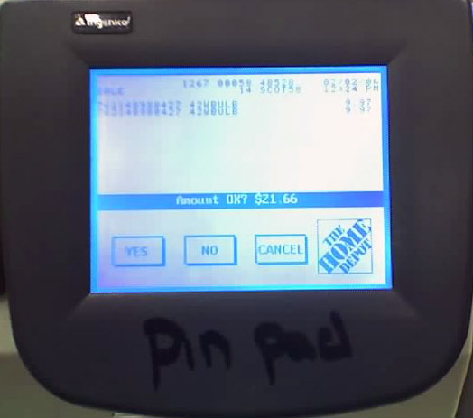 Pin Pad Scribble